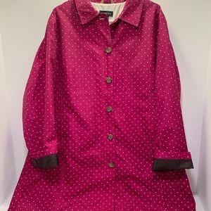 Lands End rain/trench coat women's 2X